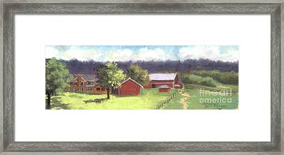 West View Of The Meyer Ranch Framed Print by Terri  Meyer