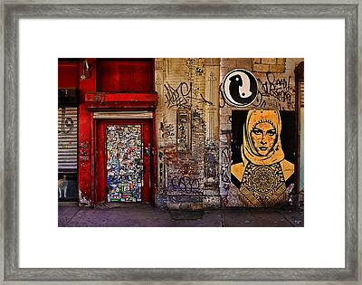 West Village Wall Nyc Framed Print