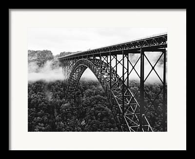 Foggy Landscape Framed Prints