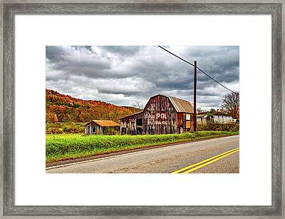 West Virginia Barn 2 Framed Print