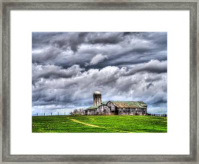 Framed Print featuring the photograph West Virginia Barn by Steve Zimic