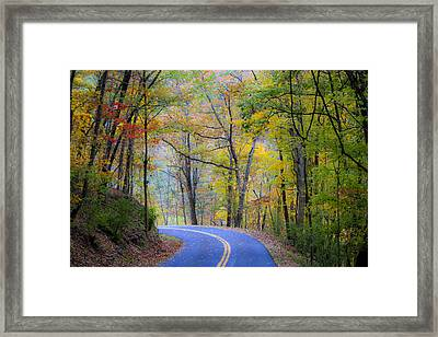 West Virginia Country Road Framed Print by Teresa Mucha