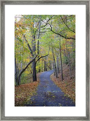 West Virginia Fall Scene Framed Print