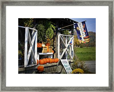 West Virginia Fall Welcome Framed Print by Teresa Mucha