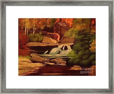 West Virginia Grist Mill Framed Print by Tim Blankenship