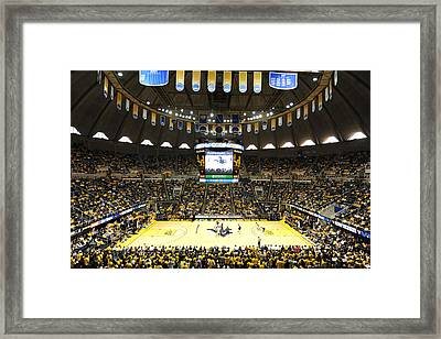 West Virginia Mountaineers Wvu Coliseum Framed Print by Replay Photos