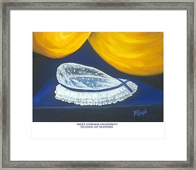 Framed Print featuring the painting West Virginia University School Of Nursing by Marlyn Boyd
