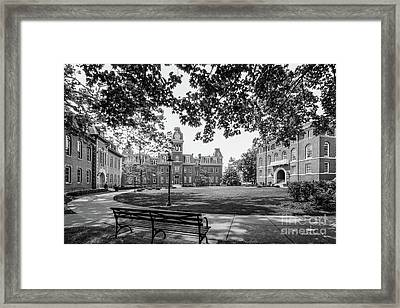 West Virginia University Woodburn Circle Framed Print by University Icons