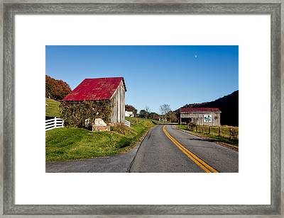 West Virginia's Rural Heritage Quilt Trail Framed Print by Mountain Dreams