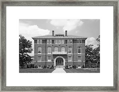 West Viriginia University Chitwood Hall Framed Print by University Icons