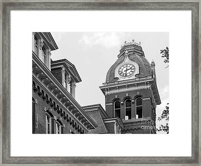 West Viriginia University Clock Tower Framed Print