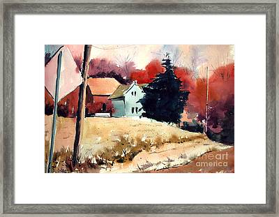 Framed Print featuring the painting West Walkum Road by Charlie Spear