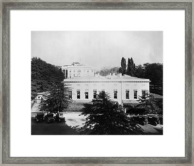 West Wing Of The White House Was Built Framed Print