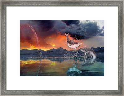 West World Framed Print