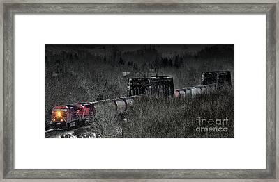 Westbound Grain II Framed Print by Brad Allen Fine Art