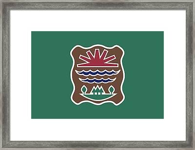 Western Abenaki Flag Framed Print by Otis Porritt