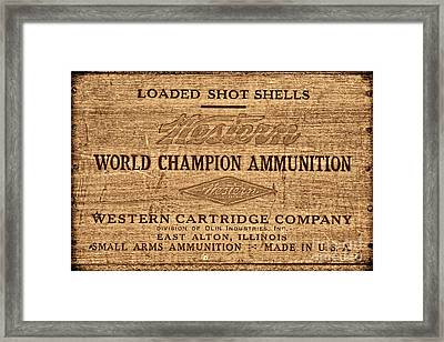 Western Ammunition Box Framed Print by American West Legend By Olivier Le Queinec