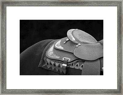 Western Art Navajo Silver And Basketweave In Black And White Framed Print by Michelle Wrighton