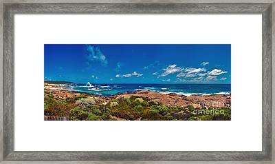 Framed Print featuring the photograph Western Australia Beach Panorama by David Zanzinger