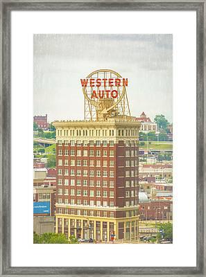 Western Auto Framed Print by Pamela Williams