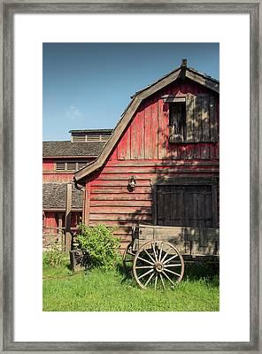 Western Barn Framed Print by Carlos Caetano