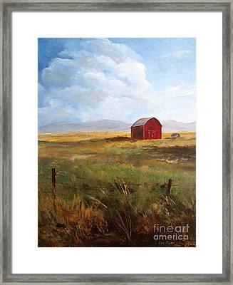 Western Barn Framed Print
