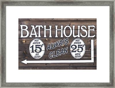 Western Bathhouse Sign Framed Print