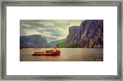 Framed Print featuring the painting Western Brook Pond by Jeff Kolker