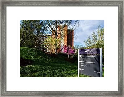 Western Carolina University Sign Framed Print