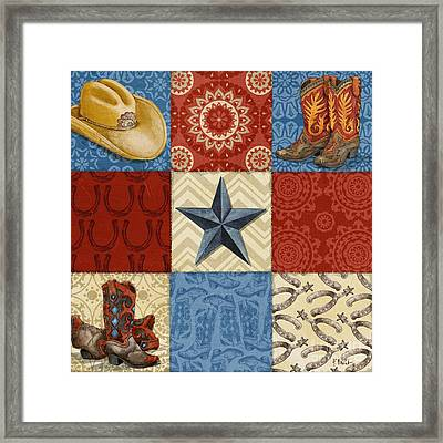 Western Chic Square I Framed Print by Paul Brent