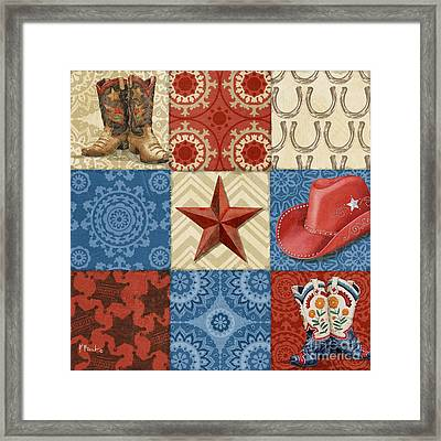 Western Chic Square II Framed Print by Paul Brent