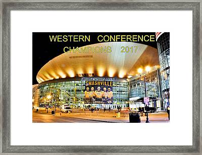 Western Conference Champions 2017 Framed Print by Lisa Wooten