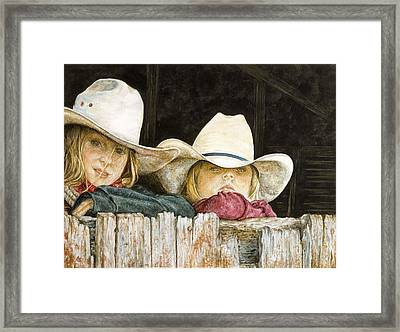 Western Daydreams  Framed Print