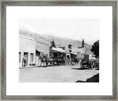 Western Film Still Framed Print by Underwood Archives