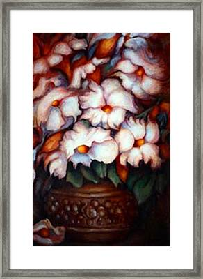 Western Flowers Framed Print