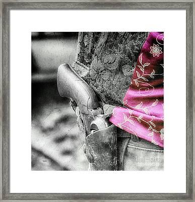 Western Hip  Framed Print by Steven Digman