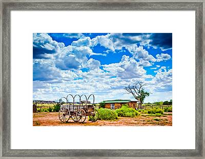 Western Homestead Framed Print by Daniel Dean