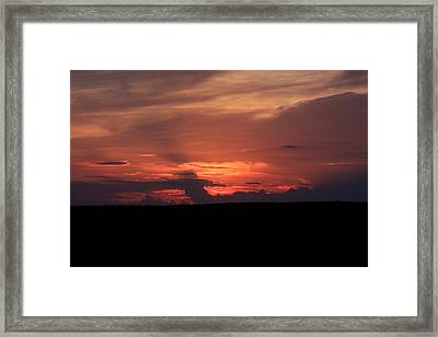 western Illinois Sunset Framed Print by Dave Clark