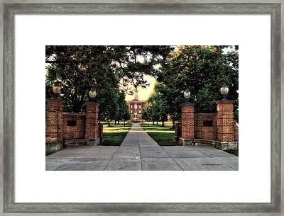 Western Illinois University Sherman Hall Framed Print