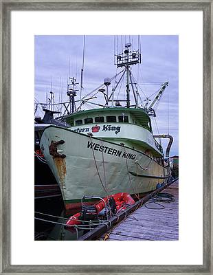Framed Print featuring the photograph Western King At Discovery Harbour by Randy Hall