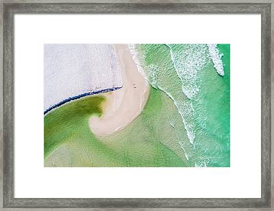 Western Lake Meets The Gulf Framed Print