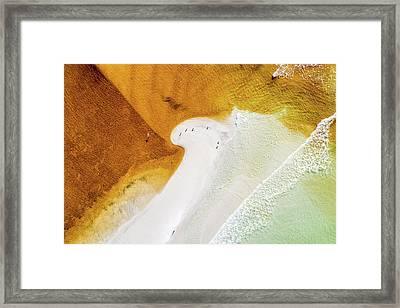 Western Lake Mingling The Gulf Framed Print