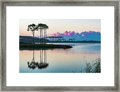 Western Lake Sunrise Framed Print
