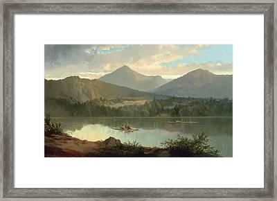 Western Landscape Framed Print by John Mix Stanley