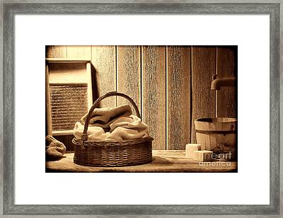 Western Laundromat   Framed Print by American West Legend By Olivier Le Queinec