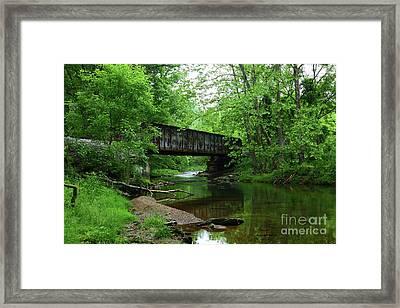 Western Maryland Railway Bridge And Patapsco River Framed Print