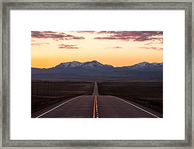 Western Morning Commute Framed Print