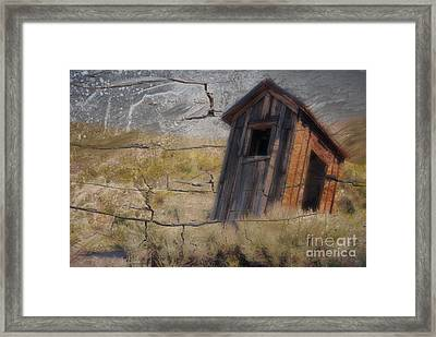 Western Outhouse Framed Print by Ron Hoggard