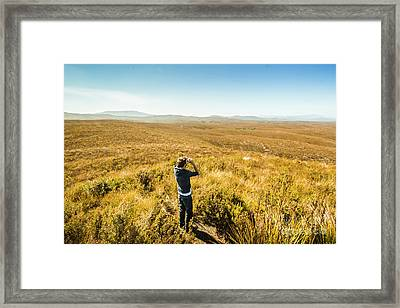 Western Plains Of Tasmania Framed Print