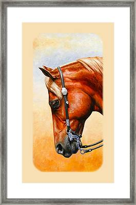 Western Pleasure Horse Phone Case Framed Print by Crista Forest